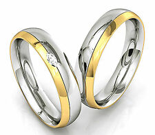 Edelstahl Verlobungsringe Trauringe Freundschaftsringe Eheringe Silber Gold Z25