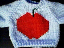 Back to School Apple Sweater Handmade for Cabbage Patch Made in USA