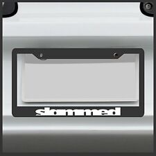Slammed -  License Plate Frame - JDM VIP Stance flush euro import drift sticker