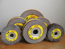"""10 Abrasive Flap sanding Wheel 6"""" x 2"""" x 1"""" Aluminum Oxide 60 Grit -Wholesale"""