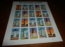 NEW ENGLAND COASTAL LIGHTHOUSES SIXTH IN A SERIES FOREVER STAMPS FULL SHEET MINT