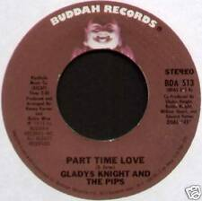 "GLADYS KNIGHT ~ PART TIME LOVE / WHERE DO I PUT HIS MEMORY ~ 1975 US 7"" SINGLE"