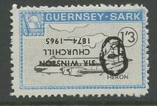 Guernsey SARK 1966 Churchill 1s3d INVERTED Ovpt error