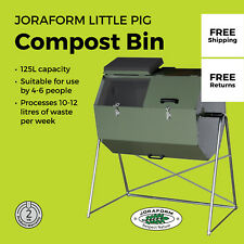 Joraform Little Pig 125 L Rotating Compost Bin With Stand