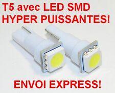 T5 LOT DE  2 ampoules LED SMD ULTRA PUISSANT W5W T5 BLANC XENON PUSH WEDGE LIGHT