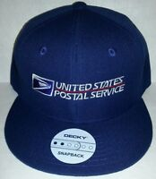 USPS Embroidered Baseball Cap /Navy Blue  SNAPBACK / FLATBILL / USPS Logo2 Hat
