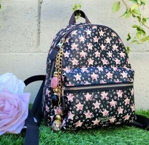 COACH 29656 mini Charlie with star print backpack purse handbag pink black