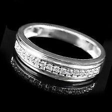 0.25 Ctw Round Natural Diamond Wedding Band Ring 10k White Gold