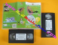 BOX 2 VHS film IL MEGLIO DI SILVESTRO E TITTI detectives 3 WARNER (F130*) no dvd