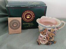 Boyds Bears Bearstone Collection 1997 #27751 Ms Bruin & Bailey.Tea Time Votive
