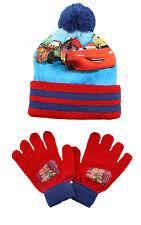 Disney Auto Ragazzi Inverno con Pon Cappello Guanti Taglia Unica 3 -6 Anni Blu