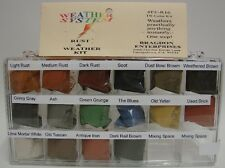 Bragdon Weathering Powders  For Model Cars Trains Dioramas Rust Dirt 16 Colors