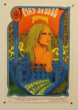 YOUNGBLOODS / KALEIDOSCOPE - VINTAGE 1968 AVALON CONCERT POSTER - PSYCHEDELIC