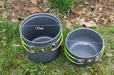 Portable Outdoor Cooking Set Aluminum Pot Bowl Cookware Camping Picnic Hiking