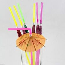 20Pcs Cocktail Drink Umbrella Straws Party Decor Wedding Paper Parasol Party Hot
