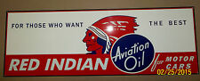 Awesome Red Indian Oil Sign, Heavy Steel, Great Color, Graphics and Shine