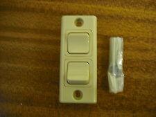 Caravan / Motorhome / Hoersebox / Boat Architrive Double Switch in Beige