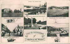 POSTCARD THE WONDERS OF THE ISLE OF WIGHT IOW