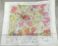 1969 Vintage Militare Map Inghilterra East Midlands UK Topographical Carta Raf