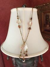 vintage Miriam Haskell Signed Necklace MOP Pearl Stones