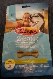 Zuke's Z-bone dental Chews mini naturals dog treats 18ct. 10-25lbs exp.9/22