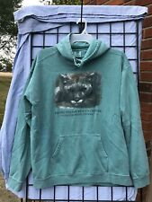 Exotic Feline Mens Hoodie Green 90s Indiana Rescue Center Mountain Lion Large
