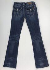 Miss Me Women's Light Wash Irene Boot Cut Denim Jeans w Flap Pockets SIZE 26-