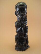 Ancienne Statue Totem ARBRE DE VIE Ethnie MAKONDE ART PREMIER AFRICAIN 1960 1970