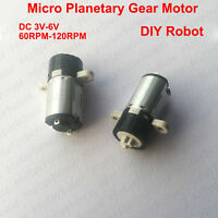 DC 3v~6v 120RPM Micro Planetary Gear Reducer Motor Mini Coreless Motor DIY Robot