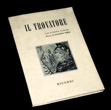 il Trovatore livret seul Cammarano opéra Verdi 1960