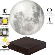 Creative 3d Printing Magnetic Levitation Moon Lamp Home Room Decoration Gift AU