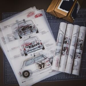 Limited Edition Monte Carlo 1964 Mini Schematic Poster Print Fathers Day Gift