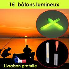 15 Bâtons Lumineux Outil Flotteur de Pêche de Nuit  stick  Lumière avec boite