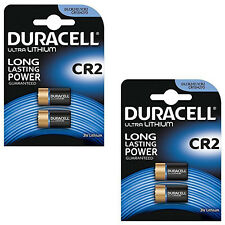 2X Pack of 2 Duracell CR2 3v Lithium Photo Battery DLCR2 ELCR2 CR17355 1CR2 KCR2