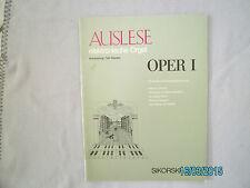 Orgel Noten (electr.) : OPER Auslese 1 - mittelschwer