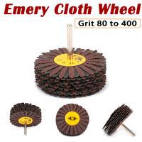 Abrasive Sanding Flap Wheel Mop Discs Sandpaper 80/120/240/320/400# Rotory Tools