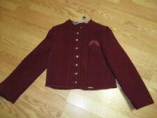 Schoeller Reine Schurwolle Burgundy embrdrd leaves Sweater Wool Vintage alpin