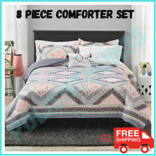 Comforter Bedding Set Full Size Bed In A Bag Trinity Diamond Floral 8 Piece