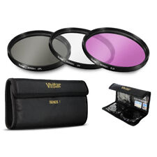 Vivitar 3 Piece 58mm Filter Kit UV, CPL, FLD for Digital Camera and Camcorder