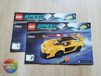 LEGO - INSTRUCTIONS BOOKLET ONLY McLaren P1 - Speed Champions - 75909