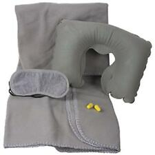 KINGSLEY, Flight Travel Set - 4 pc. Flannel Blanket, Sleep Mask & Pillow,  TC-28