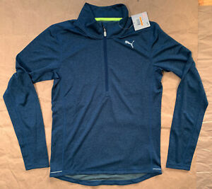 Puma long sleeve half zip running top t-shirt, NEW