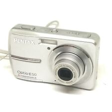 Pentax Optio E50 8.1 Megapixel Compact Digital Camera 3X Zoom Lens SD card AA 3