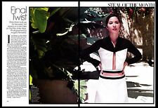 Olivia Munn 2-page clipping 2014 Final Twist