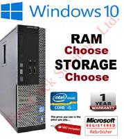Fast Cheap Dell or HP i5 Desktop / SFF 16GB HDD SSD Windows 10 PC Computer WiFi