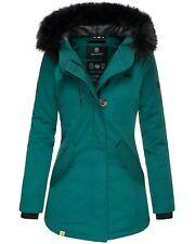 Navahoo Damen Winter Mantel Jacke Damenmantel Kunst-Pelz Parka Lang NEU Tirana