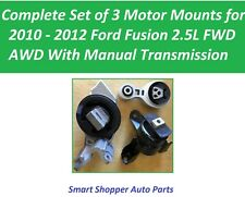 3 Pieces Motor Mount for 2010 - 2012 Ford Fusion 2.5L manualTransmission