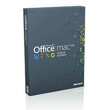 Microsoft Office 2011 Mac Home and Business 1 Computer Licence Card