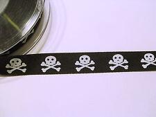Webband 2254 EIGENPRODUKTION Skull 22mm Breite Ripsband Borte