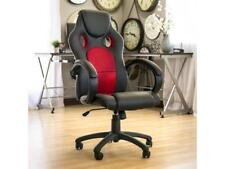 Executive Racing Gaming Office Computer Chair PU Leather Swivel High-Back (Red)